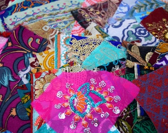 50 Boho Bohemian Indian Textiles Fabric Swatches Samples