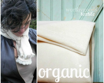 Organic Ivory Velour By The Yard GOTS Certified Organic Cotton Velour Velveteen Made in the US Cotton Knit Yardage Eco Friendly Baby Soft