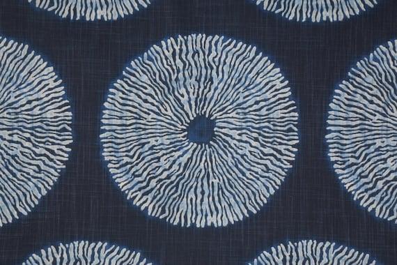 Navy Fabric Indigo Blue Home Decor Fabric Batik Fabric