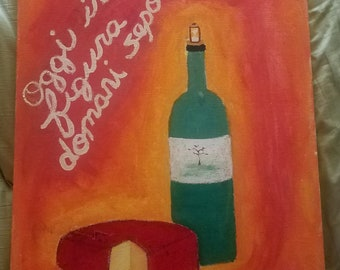 Medium Canvas Original Painting: here today gone tomorrow