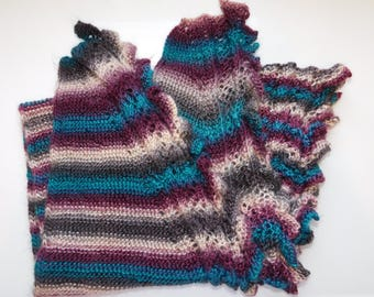 Triangular Lace Border Shawl