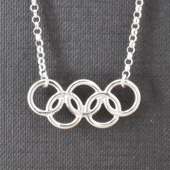 Olympic Necklace Olympic Jewelry Sterling Silver Necklace