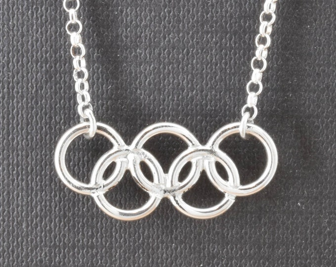 Olympic Necklace, Olympic Jewelry, Sterling Silver Necklace, Olympic Ring, Custom Made, 2016, JubileJewel, Handmade Jewelry, 2017, 2018