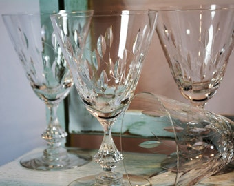 Duncan Miller, Willow, Water Goblet, Wine Glass, Set of Four