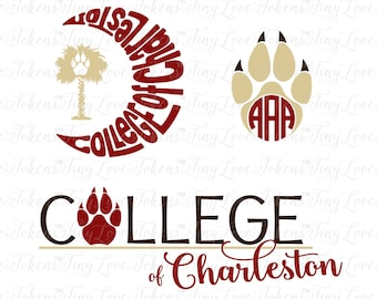 College of Charleston Design for Silhouette and other craft cutters (.svg/.dxf/.eps/.pdf)