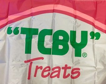 Vintage TCBY Treats Flag  from the 1980's