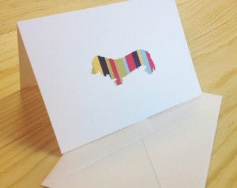 Dachshund Folded Notecard Stationery Stationary - Set of 12