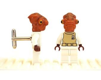 Space themed Sci fi cufflinks. Cufflinks made with LEGO(R) bricks.   Cuff links Cufflink Wedding gift