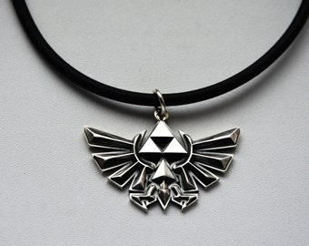 Triforce sterling silver necklace Pendant