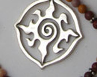 "Radiance Lg with 16"" Moukaite Jasper Beads - Original  Symbolic Jewelry"
