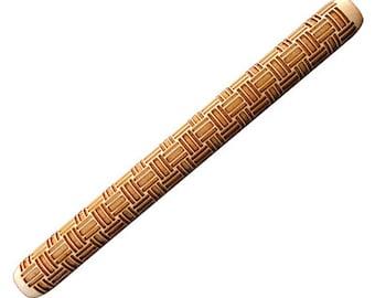 """Stock Hand Roller -  SD2810 Basket Weave Handroller (8"""" x 3/4"""" diameter)"""