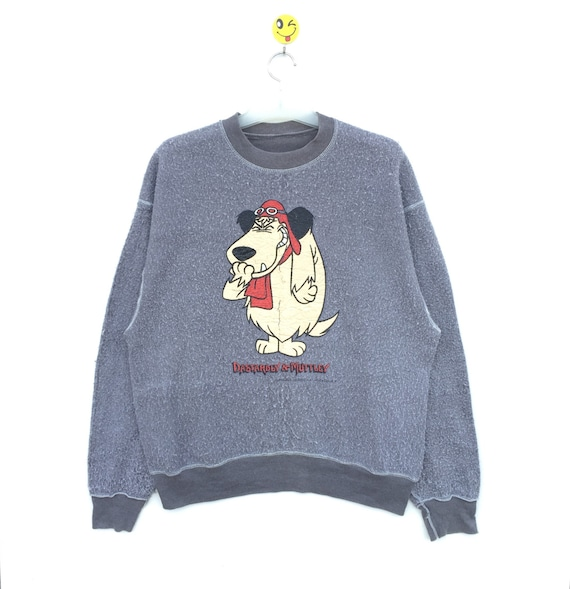 Vintage 90s 1996 Wacky Races Muttley Hanna-Barbera Bomber Snap Button Jacket Medium Large Funny Video Game Dastardly and Muttley Hip Hop 9iEOuNiY