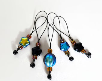knitting stitch markers / orb and stars / accessory gift / row counter / snag free stitchmarkers / popular knitter gift / pancake and lulu