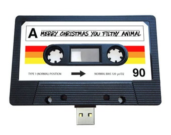 4GB/8GB/16GB USB Mix tape-Retro Personalized-  Xmas Gift - Music Lovers, Present, Boyfriend, Girlfriend, Christmas, Stocking Filler, Quirky