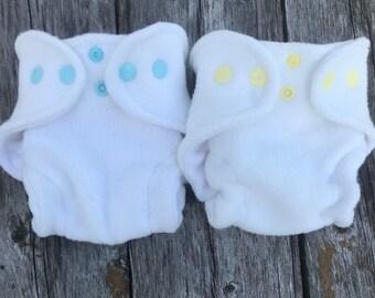 Blue Sky and Sunshine Organic Newborn Hemp Fitted Diapers