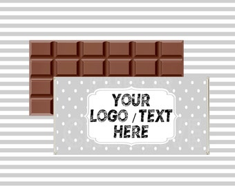 Your logo/text on chocolate wrapper