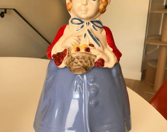 Little Red Riding Hood Vintage Cookie Jar circa 1940s excellent condition