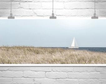 Block Island Art, Sailing Art, Rhode Island Picture, Sailboat Art, Panoramic Photo, Atlantic Ocean Art, New England Photograph, Sailor Gift