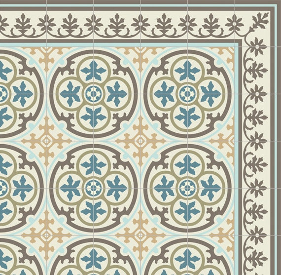 Küchenboden Matten: Kostenloser Versand Fliesen Muster Dekorative PVC-Vinyl Matte