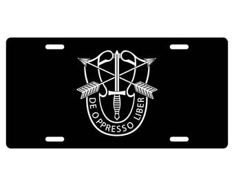 Special Forces License Plate