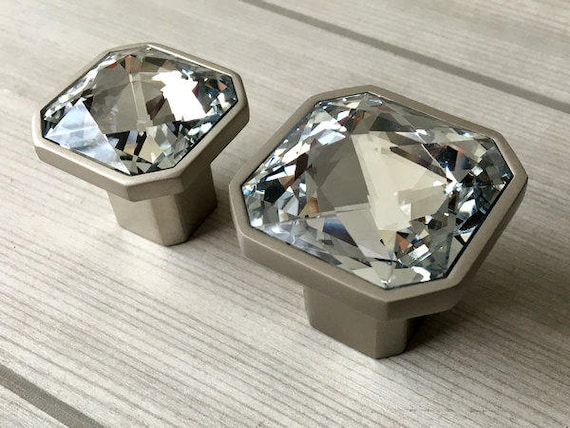 Glass Knob Dresser Knobs Crystal Drawer Knobs Pulls Handles Sparkle ...