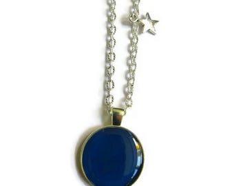COLLIER sautoir ENFANT bleu, ados, bijoux bleus, collier petite fille, bijoux petite fille, cadeau enfant, cadeau petite fille