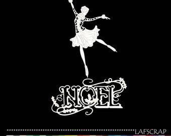 Cutting woman skater Word Christmas character die cut scrap album deco embellishment scrapbooking