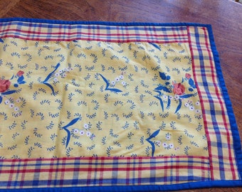 Beautiful Table Runner Floral Table Runner Blue Red and Yellow