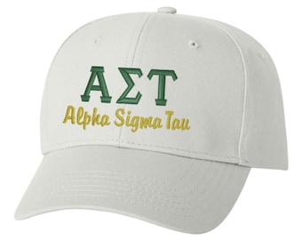 Alpha Sigma Tau hat, Alpha Sigma Tau, sorority hat, greek hat, sorority gift, big little, big little gift, greek gift