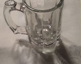 Anchor Hocking clear glass beer mugs