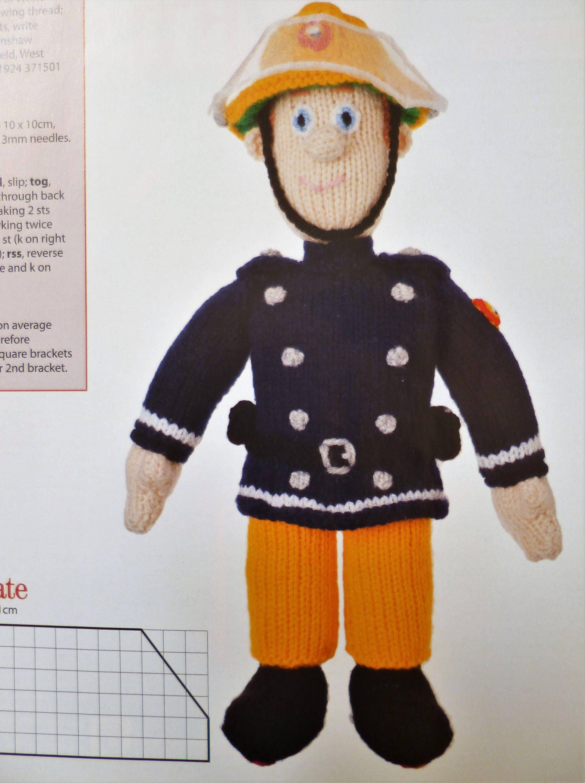 Puppe Plüschtier Feuerwehrmann Sam Muster stricken ausgestopfte ...