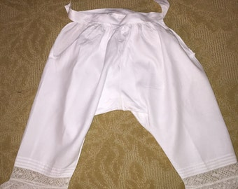 Antique White Cotton Bloomers or Pantaloons