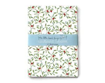 Christmas Mistletoe - Custom Bullet Journal - Traveler - Notebook - Exercise Book