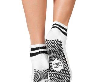 Lucky Honey Non Slip Fitness Sock: The Boyfriend Style
