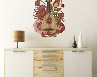 Ever Mandolin Instrument Wall Decal by Valentina Harper