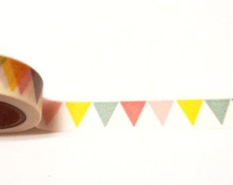 Colorful Bunting Washi Tape, Washi Tape, Scrapbook Supplies