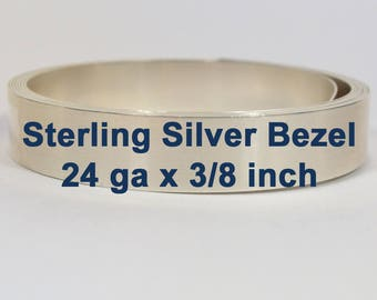 """24ga x 3/8"""" Sterling Silver Bezel Wire - Choose Your Length"""