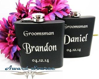 1 Wedding Groomsman Flask