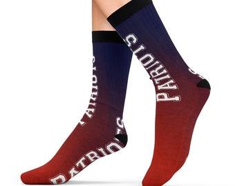 New England Patriots Football Design Printed Sublimation Socks