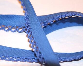 12MM POLYCOTTON BIAS EDGE BLUE LACE