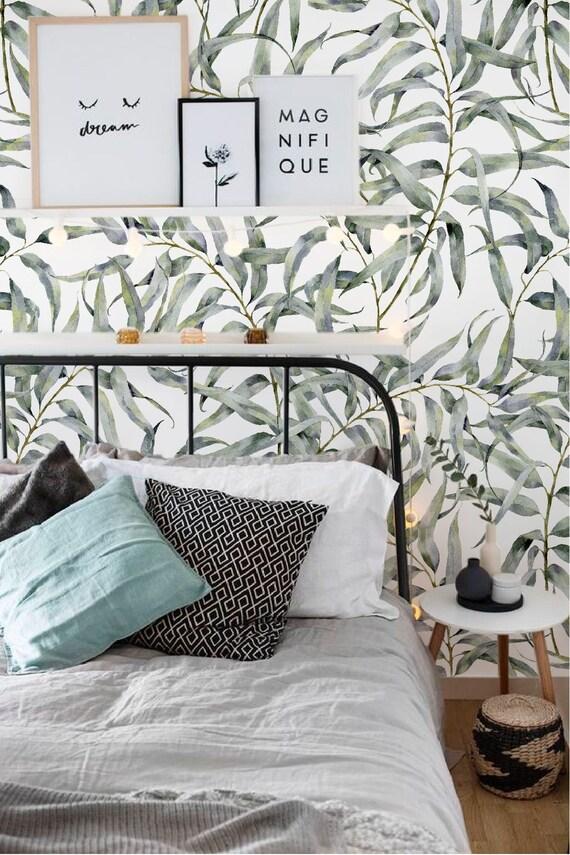 Eucalyptus Blad Verwisselbare Behang Jungle Tijdelijke Behang, Huurders  Vriendelijk Behang, Peel En Stick Muur Sticker Voor Appartementen Home Design Ideas