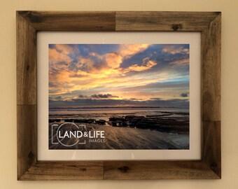 Llanaber Beach Sunset Lustre Print