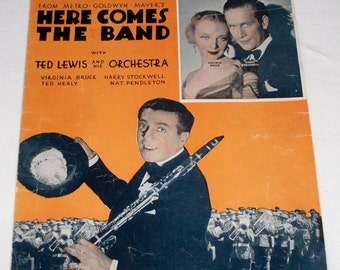 Roll Along Prairie Moon ~ Sheet Music - From Here Comes The Band 1935