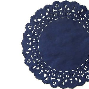 """NAVY BLUE Color Paper Doilies 