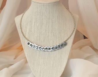 Neckalce, Swarovski Necklace, Charm Necklace, Crystal Necklace, Charm Necklace, Artisan Necklace, Gift For Her,  N1