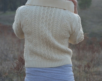 MOUNTAIN TOP Knit 1950's Cozy Vintage Wool Sweater Size Small
