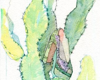 """Miu Miu Platform Heel on Cactus - 8"""" x 10"""" Print"""