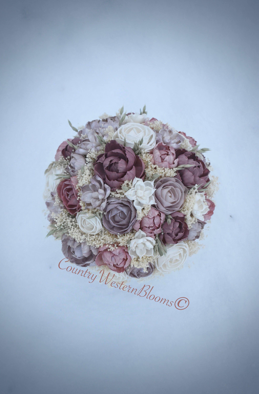Wedding Bouquet Dusty Pink Mauve Bouquet Blush Pink Bouquet