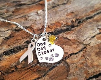 One Day Closer - Deployment Military Jewelry Necklace - Army Nave Air Force Marines Girlfriend Wife Mom Couple Love Marriage Long Distance