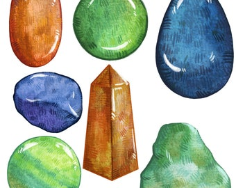 Mixed Colors Aventurine Crystal Sticker Pack   Last Updated 11/17   Magical Stickers Hand Made with Love